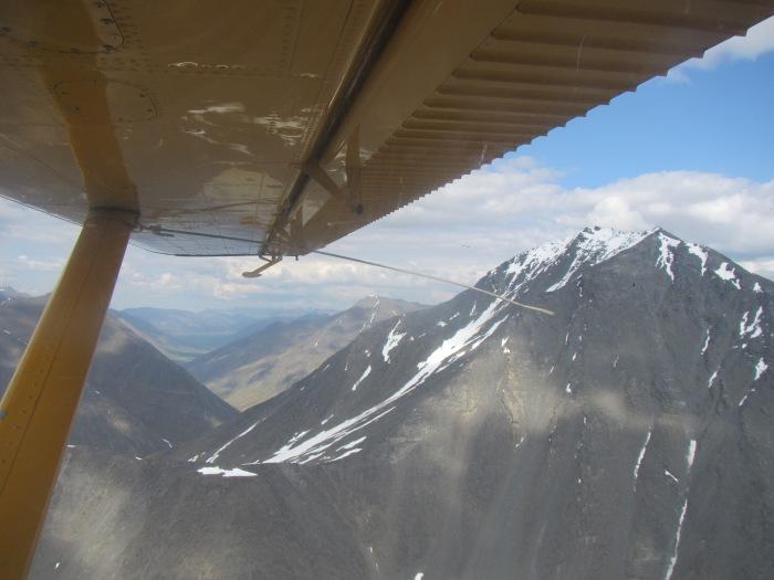 Flying in over the Brooks Range